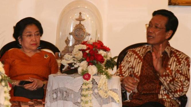 Megawati dan Sri Sultan Hamengkubuwono X
