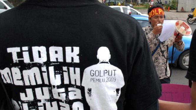 Demonstrasi mendukung Golput dalam Pemilu