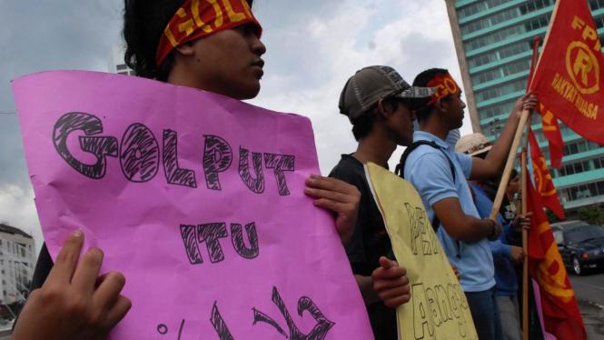 Demonstrasi mendukung Golput itu Halal
