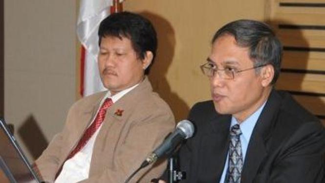 Wakil Ketua KPK, Haryono Umar dan M Jasin