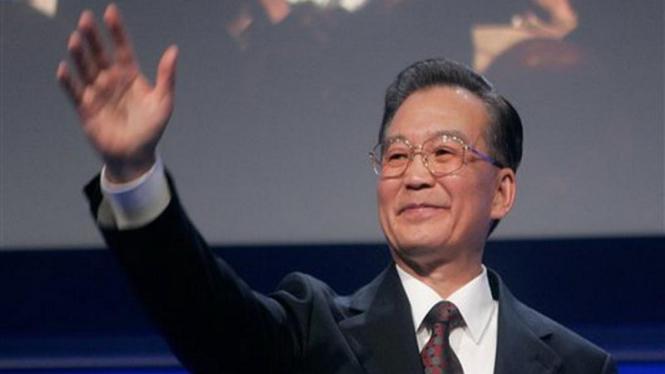 PM China, Wen Jiabao, dalam Forum Ekonomi Dunia 2009 di Davos, Swiss