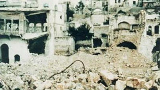 Hama pasca serangan militer