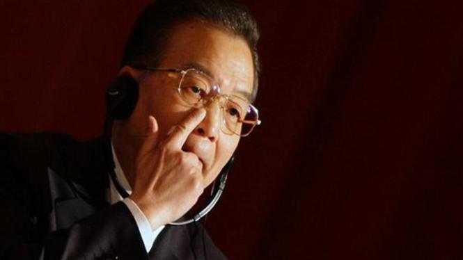 PM China, Wen Jiabao, saat berpidato di Universitas Cambridge, Inggris