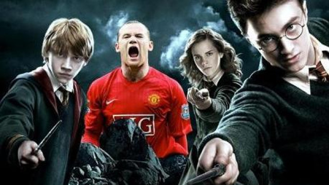 Wayne Rooney dalam ilustrasi Harry Potter