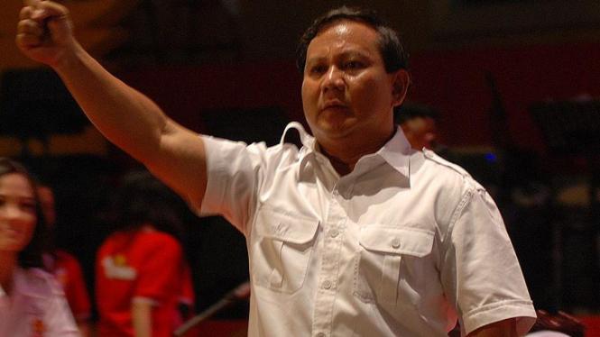 Prabowo Subianto saat HUT Partai Gerindra