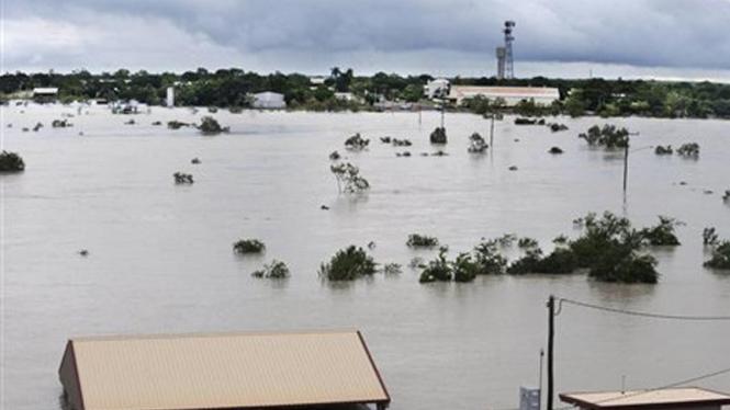 Kota Normanton di negara bagian North Queensland, Australia, tergenang banjir