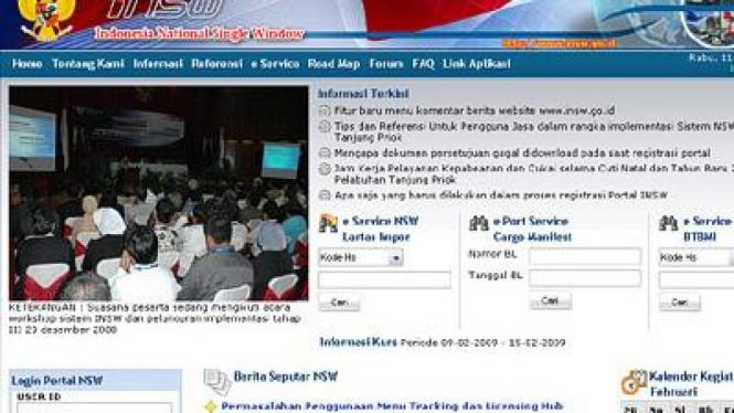 Situs Indonesia National Single Window