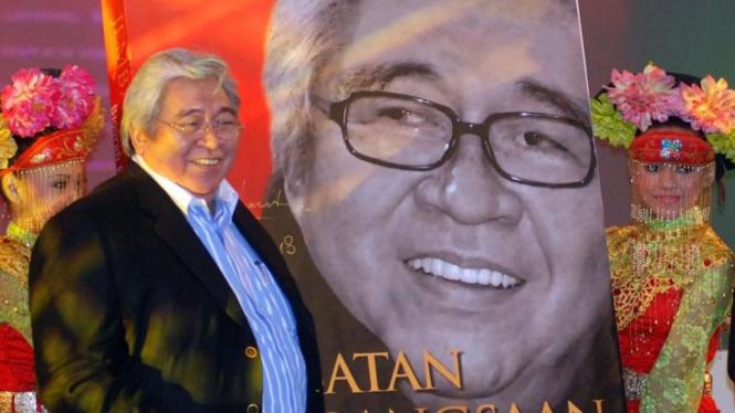 Taufiq Kiemas saat peluncuran bukunya di gedung DPD Jakarta