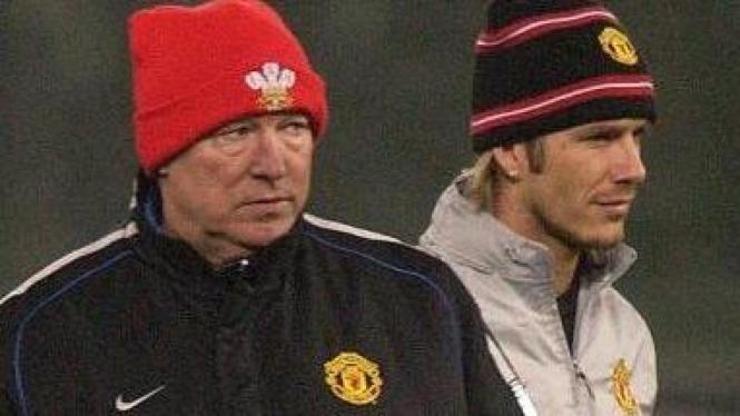 David Beckham & Sir Alex Ferguson
