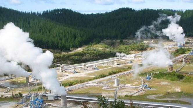 Ilustrasi lapangan panas Bumi.