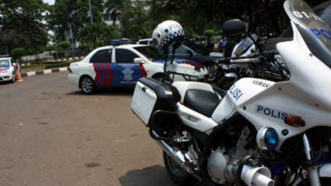 Motor BM yang dikendarai polisi Polda Metro Jaya