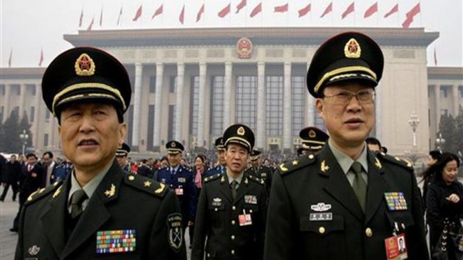 Para pejabat militer China berkumpul di Beijing