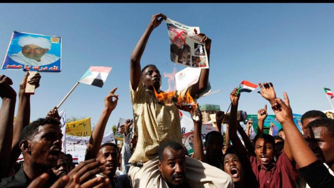 Pendukung Presiden Sudan, Omar Al-Bashir