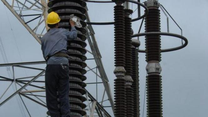 Ilustrasi gardu listrik.