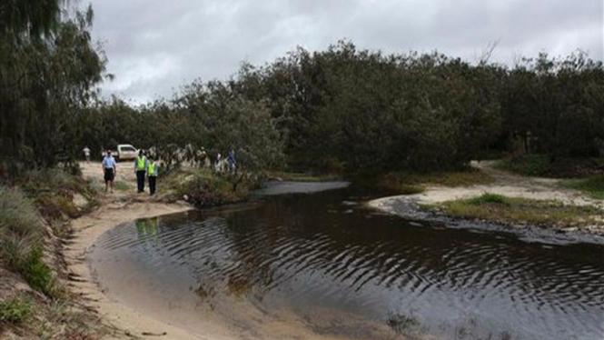 Lokasi pencemaran pantai akibat tumpahan minyak di Australia