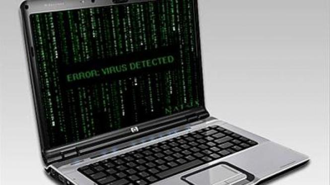 Ilustrasi Terkena Serangan Virus