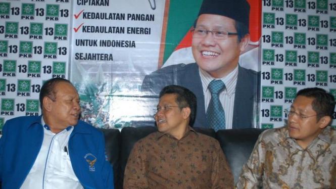 Ketua Umum PKB Muhaimin Iskandar, Hadi Utomo & Anas Urbaningrum