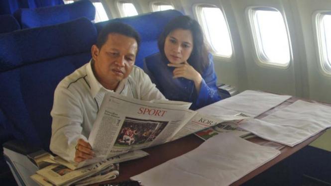 Ketua Umum PAN Soetrisno Bachir dalam tur kampanye