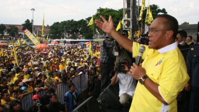 Aburizal Bakrie berkampanye untuk Golkar di Yogyakarta