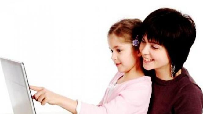 Online bersama anak