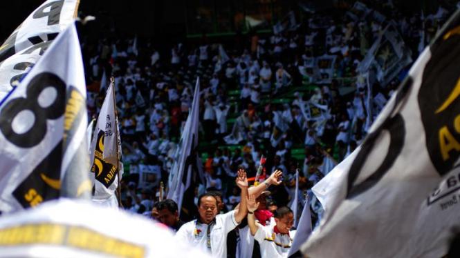 Hidayat Nur Wahid Saat Kampanye Akbar PKS di Gelora Bung Karno