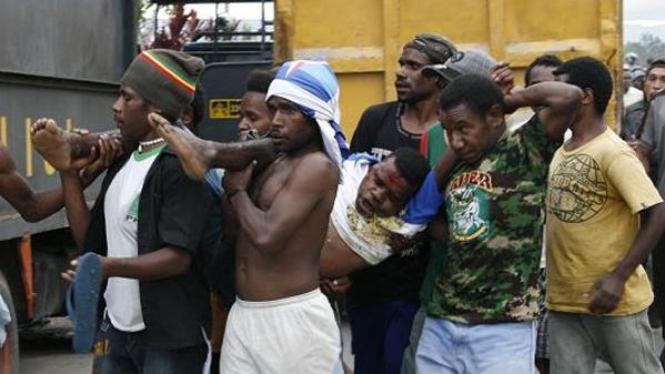Korban kerusuhan kampanye Demokrat di Papua