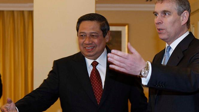 Presiden Yudhoyono dan Pangeran Andrew dari Kerajaan Inggris