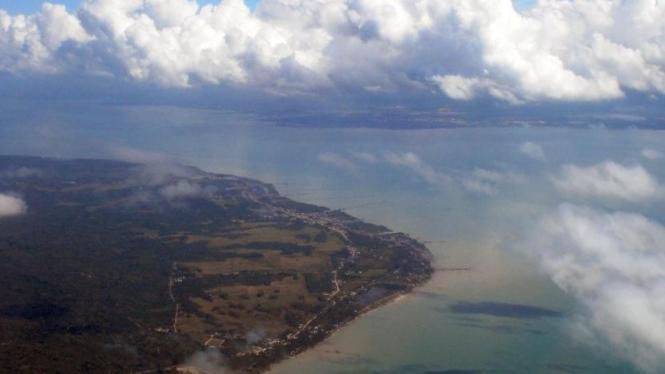 Pulau Sebatik yang berbatasan langsung dengan Malaysia