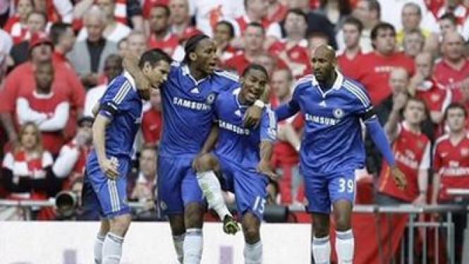 Lampard, Drogba, Malouda dan Anelka