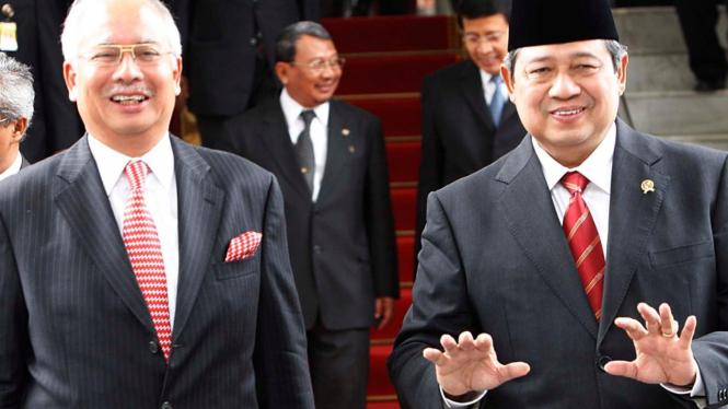 Presiden Yudhoyono dan PM Malaysia Najib Tun Razak