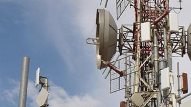 Ilustrasi menara telekomunikasi.