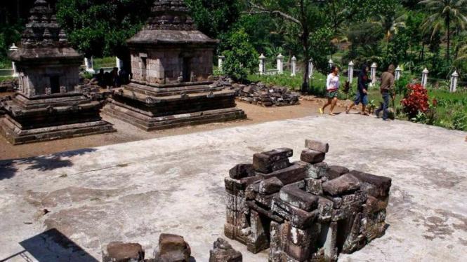 situs purbakala Candi Ngempon, di Desa Nderekan, Pringapus, Semarang