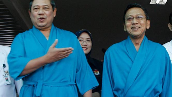 SBY dan Boediono cek kesehatan di RSPAD