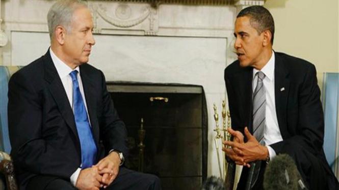 Barack Obama berbincang dengan PM Israel, Benjamin Netanyahu