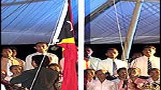 Pengibaran bendera Timor Leste