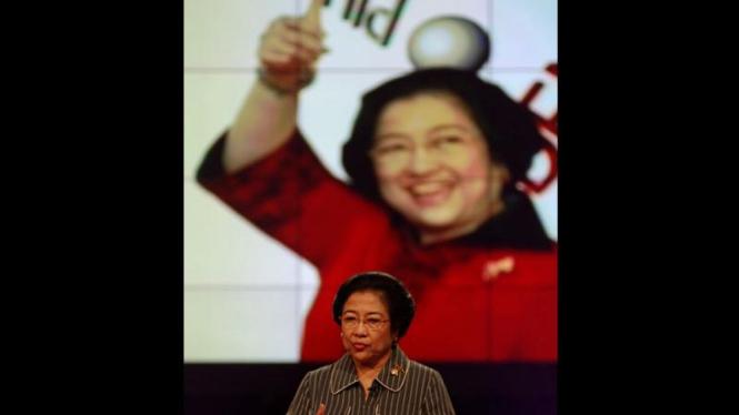 Megawati Saat Acara Dialog Calon Presiden