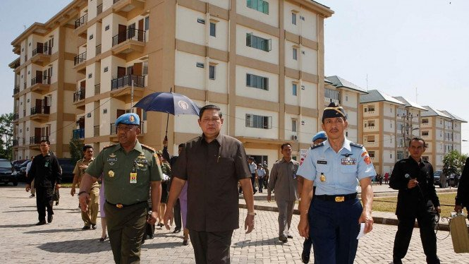 Presiden SBY tinjau rumah dinas Paspampres