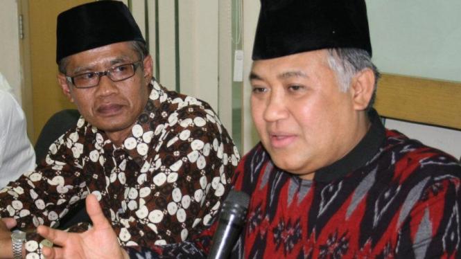 Petinggi Muhammadiyah, Din Syamsuddin & Haedar Nasir