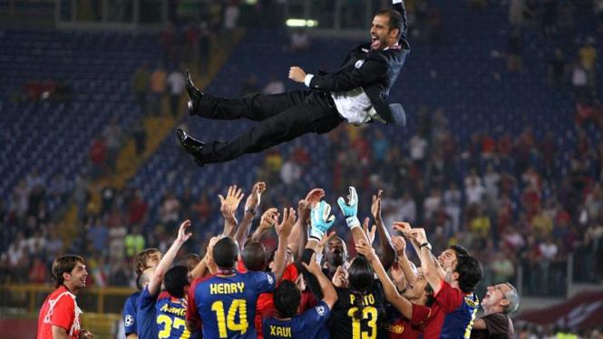 Barcelona Juara : Pep Guardiola