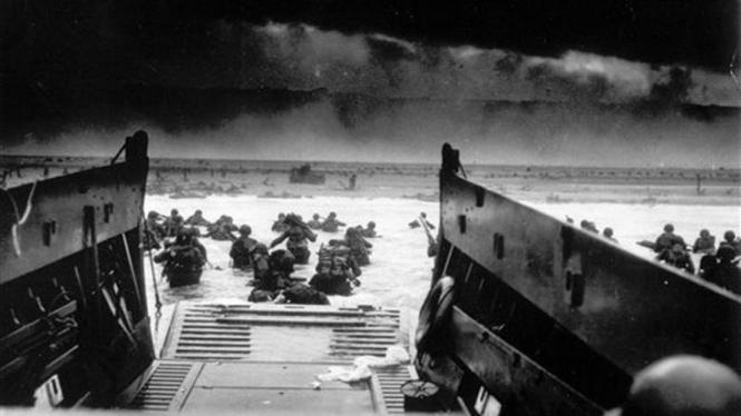 Pendaratan Pasukan AS di Pantai Normandy, Prancis