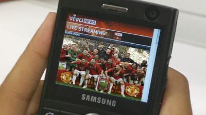 Konten Manchester United di ponsel