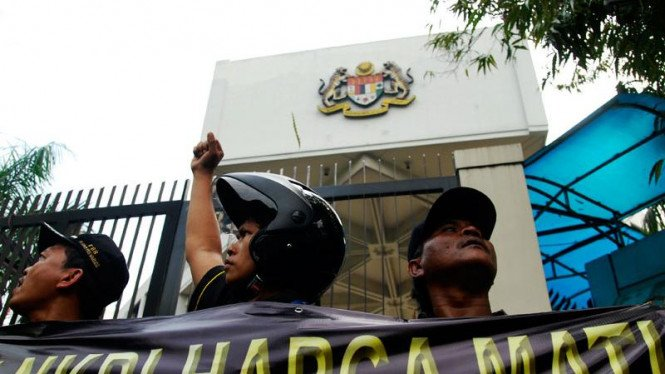 Ormas Demo Kedubes Malaysia