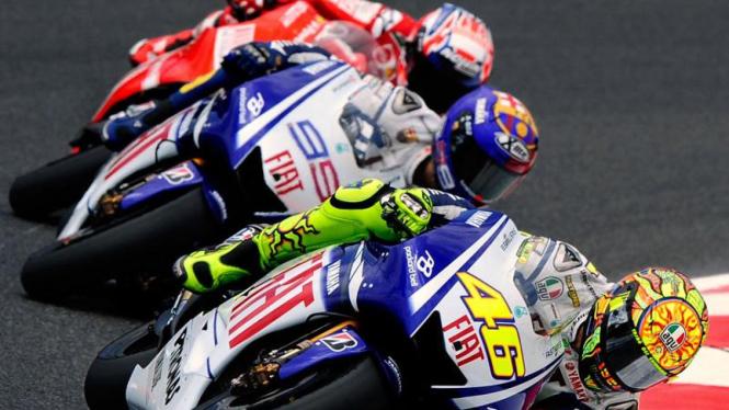 Moto GP Catalunya : Valentino Rossi, Jorge Lorenzo dan Casey Stoner