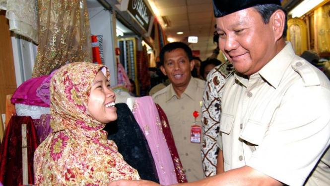 Cawapres Turun ke Pasar : Prabowo Subianto