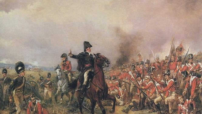 Lukisan Wellington di Waterloo karya Robert Alexander Hillingford