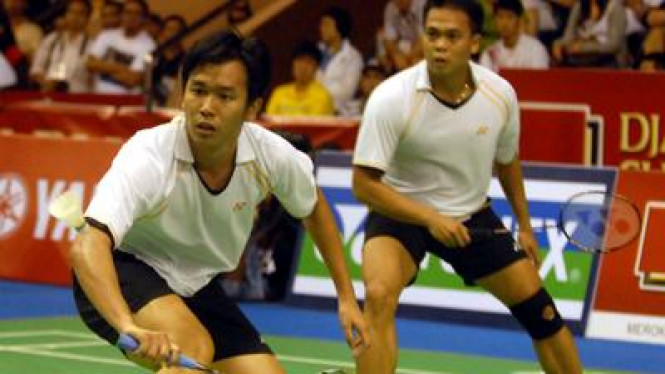 Hendra Setiawan (kiri) dan Markis Kido