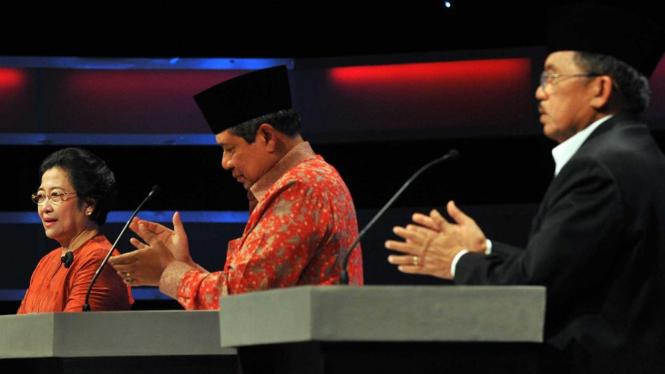 Megawati, SBY, dan JK di Debat Capres