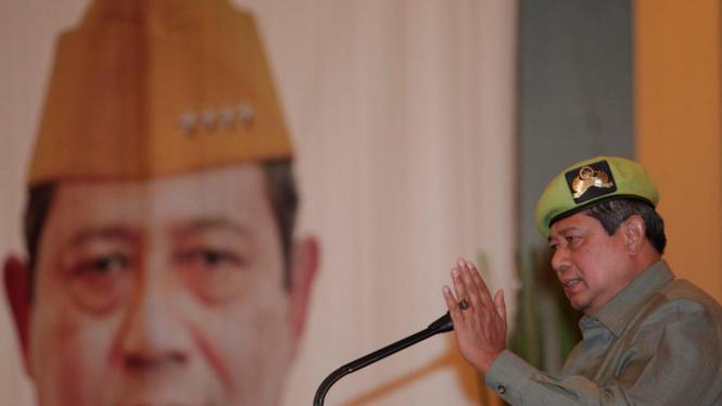 Susilo Bambang Yudhoyono (SBY) di Rapimnas Pemuda Panca Marga beberapa waktu silam.