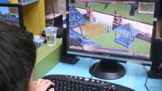 Ilustrasi game online.