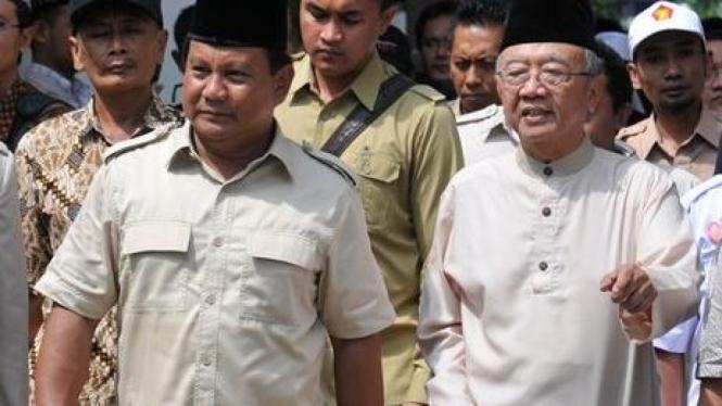Prabowo Subianto dan Salahuddin Wahid